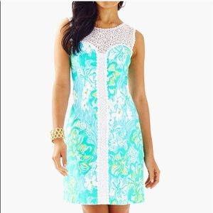 NWT Lilly Pulitzer Sofia Shift Lagoon Green Dress